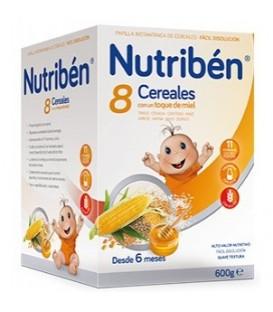 PAPILLA NUTRIBÉN 8 CEREALES Y MIEL 600 G