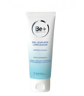 GEL ESPUMA LIMPIADOR FACIAL BE+ 200 ML