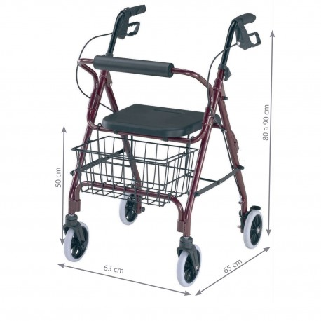 ANDADOR ROLLATOR CON FRENO MANUAL PRIM