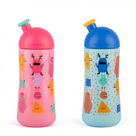 BOTELLA 0 BPA BOQUILLA SUAVINEX ENTRENA SPORT + 12 M 360 ML THIRD