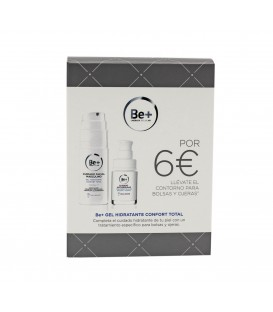 PACK FACIAL HOMBRE GEL HIDRATANTE 50 ML + CONTORNO BOLSAS Y OJERAS 15 ML BE+