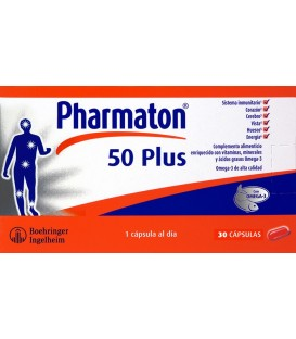 PHARMATON 50 PLUS 30 CAPS