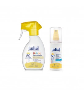 LADIVAL NIÑOS FOTOPROTECTOR FPS 50+ SPRAY 200 ML + LADIVAL FOTOPROTECTOR ADULTOS FPS 50+ 150ML