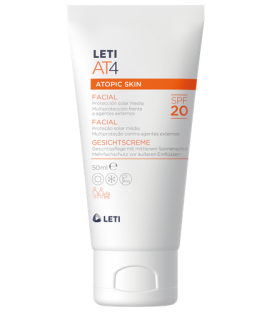 CREMA FACIAL SPF 20 PIEL ATÓPICA LETI AT-4  50 ML