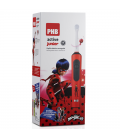 CEPILLO DENTAL ELÉCTRICO PHB ACTIVE JUNIOR ROJO LADYBUG