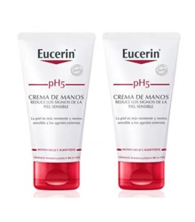 CREMA DE MANOS EUCERIN PIEL SENSIBLE PH-5 2 x 75 ML DUPLO