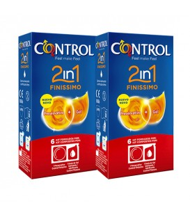 PRESERVATIVOS CONTROL 2 IN 1 FINISSIMO  6 + 6 UDS PACK AHORRO