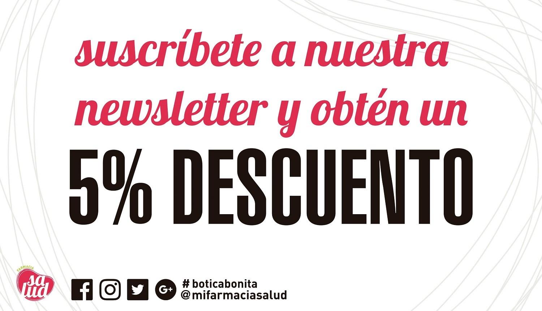 Suscríbete a nuestra newsletter y obtén un 5% de descuento