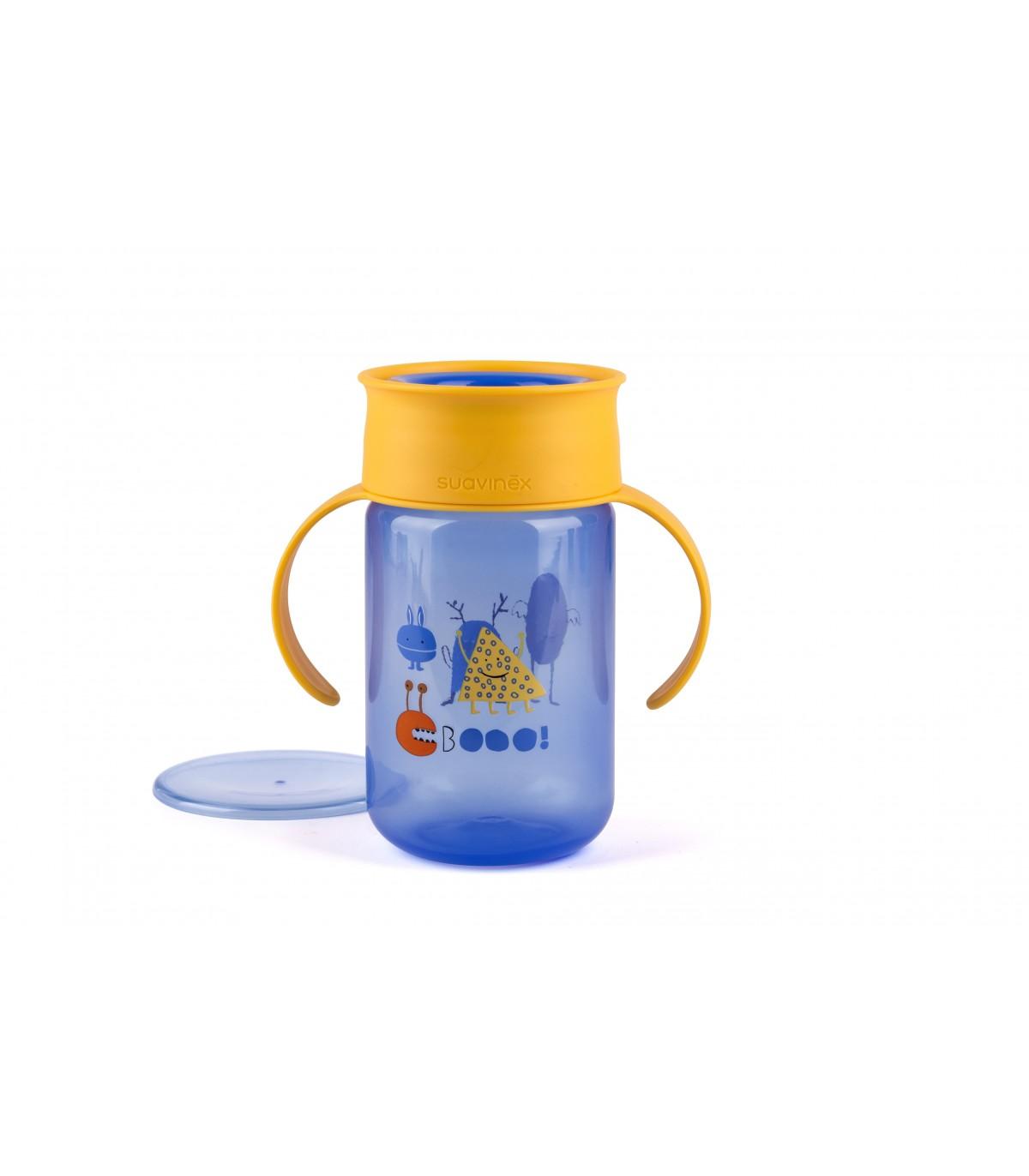 Suavinex Booo taza de aprendizaje con pajita azul 18/ Meses azul
