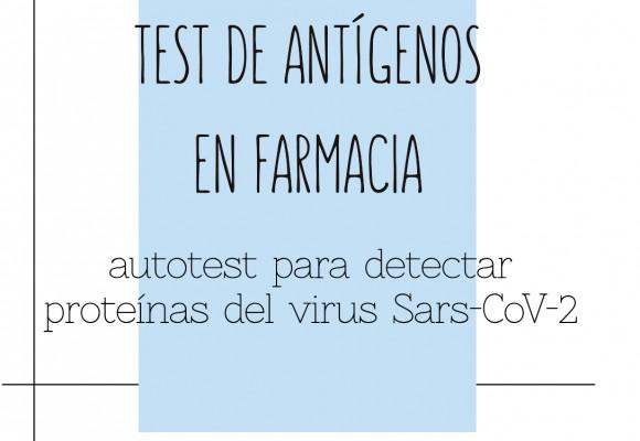 Test de antígenos en farmacias